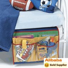 kid's bed organizer - love it! Goes between the mattresses