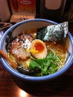 Yuzu-Shio Ramen Noodles Soup (Tokyo Ebisu, Japan)|AFURI のゆず塩ラーメン  | https://www.pinterest.com/pin/424886546075074729/