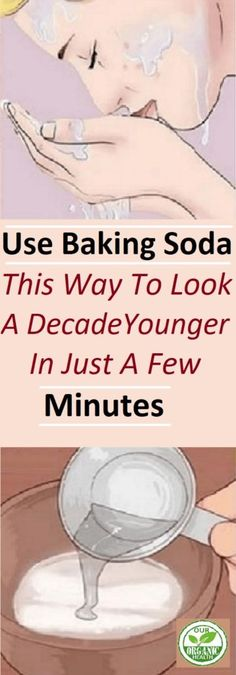 Use Baking Soda This Way To Look A Decade Younger In Just A Few Minutes #BakingSoda #youngerskin