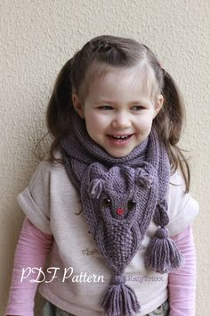 OWL WAYS Scarf Knitting Pattern by KatyTricot on Etsy