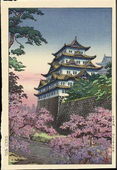 Nagoya Castle by Tsuchiya Koitsu