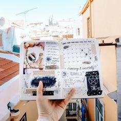 bullet journal on holiday - travel Lisbon Portugal ✨