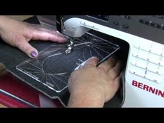Ruler work on a Bernina Sewing Machine - YouTube | ruler foot attached to Bernina adaptor shank, stitch length to zero.