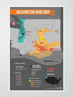 Washington Wine Region Map--- you can find this our tasting room! #boutique #winery