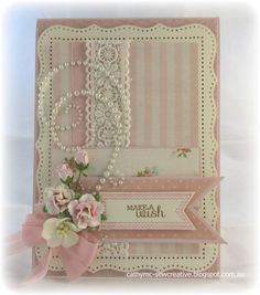 Make a Wish By: Cathy Mc  //  WHAT A BEAUTIFUL CARD! THIS WOULD MAKE A PERFECT THANK YOU CARD! I LOVE THE PEARLS AND THE FLOWERS!!! ♥A