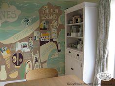 St Ives map wallpaper | Lesley Todd | www.finchfive.co.uk