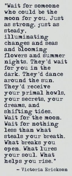 I am waiting for you moon...