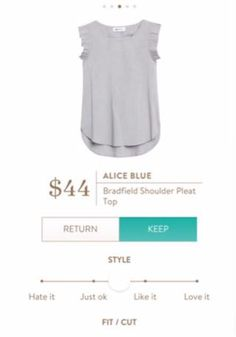 Alice Blue Bradfield Shoulder Pleat Top