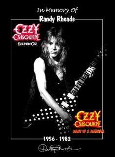 Ozzy Osbourne Band Randy Rhoads Memorial Stand-Up Display - Guitar Rock Concert Music Pics, Music Stuff, Art Music, Music Artists, Black Label Society, Best Guitarist, Tribute, Heavy Metal Music, Rock Posters