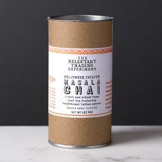 This is as close as you'll get to the stuff the chai wallahs serve on the streets of Delhi. Lauded Chef Troy MacLarty of Bollywood Theater in Portland, OR, formulated this robust, authentic masala loose leaf chai tea. We sourced the freshest ingredients direct in India. (Super fresh!) Comes in 3 oz tubes. Serves about 10.