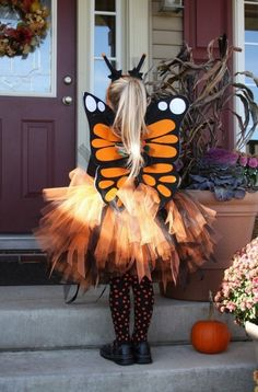 Halloween Costume girl tutu skirt monarch butterfly