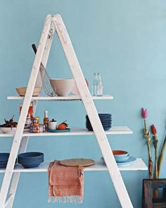 New Uses for Ladders|Take a ladder to new heights with these savvy storage and display ideas.