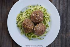 Clean Eating Easy Bake Meatballs. Serve over zucchini pasta and dinner is ready, low-carb style!!