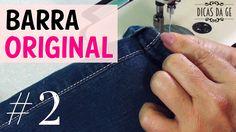 Barra Original simples calça jeans #2 Dicas da Gê
