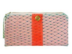 Alaina Marie   Teal & Coral Bait Bag Clutch