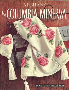 Vintage Crochet Afghans by ColumbiaMinerva Book 742 is a 33 page book containing 17 afghan patterns. The titles are: Flower and Fruit Rose Striped Plaid Feather and Fan Ripple Patchwork Rosebud Daisy Red and White Two tone Block Roses Leaf Garter Blue and White Striped by NookCove, $6.76