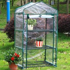 """Mini Greenhouse by Arcadia Garden Products. $60.89. GH03 Size: 3-Tier (26.5"""" x 19"""" x 49"""") Features: -Great for the backyard, patio, or deck. Includes: -Cover and shelving included. Assembly Instructions: -Easy assembly. Dimensions: -3-Tier dimensions: 27.2'' H x 2.6'' W x 27.2'' D.-4-Tier dimensions: 27.2'' H x 3.1'' W x 27.2'' D."""