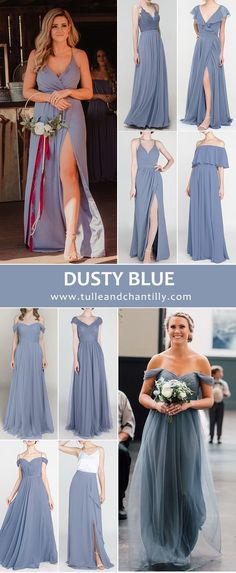 fall wedding color ideas with bridesmaid dresses in dusty blue, with real wedding photos#wedding #weddinginspiration #bridesmaids #bridesmaiddresses #bridalparty #maidofhonor #weddingideas #weddingcolors #tulleandchantilly Fall Wedding Colors, Short Bridesmaid Dresses, Long Shorts, Dusty Blue, Maid Of Honor, Real Weddings, Wedding Inspiration, Bridal, Dama De Honor