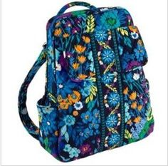 Vera Bradley Backpack in Midnight Blues - Click image twice for more info - See a larger selection of blue backpacks at http://kidsbackpackstore.com/product-category/red-backpacks/. - kids, juniors, back to school, kids fashion ideas, teens fashion ideas, school supplies, backpack, bag , teenagers girls , gift ideas, blue