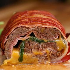 Bacon-wrapped Burger Roll Recipe by Tasty