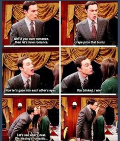 Sheldon and Amy...Romance. Oh the feels