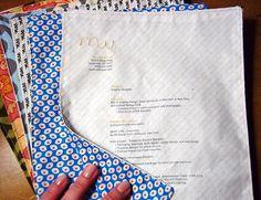 13.) Fabric résumé.