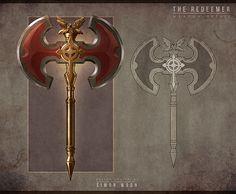 ArtStation - Golden Axe Re-imagined - The Redeemer (Legendary Axe), Simon Woon