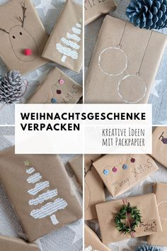 Diy Weihnachten, Christmas Wrapping, Diy And Crafts, Wraps, Gift Wrapping, Kids, Inspiration, Advent, Valentine Gift For Him