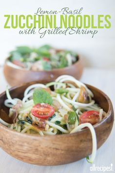 "Zucchini Noodle Alfredo | ""I made this tonight, and topped it with some grilled shrimp. Lovely recipe, and healthy too. Everyone enjoyed it. The nutmeg and pine nuts were a brilliant touch."""
