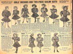 1908 sears catalog of girls' dresses