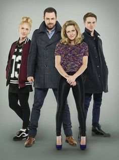 Danny Dyer good looking family, even if they aren't related. Mick Carter, Linda Carter, Sam Strike, Kellie Bright, Carter Family, Hollyoaks, Soap Stars, Coronation Street, Famous Stars