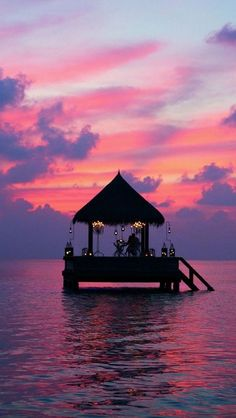 Sunset at Taj Exotica Resort, Maldives