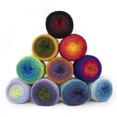Silkwool Rainbow Lace hand dyed by Bilum (100g) 25,00 EUR