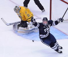 Yale blanked Quinnipiac 4-0 in the men's hockey national championship at the Consol Energy Center Saturday.