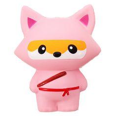 Pink Fox, Pink Panda, Grey Fox, Ninja Cats, Cute Squishies, Fox Pattern, Goods And Service Tax, Pink Fashion, St Kitts And Nevis