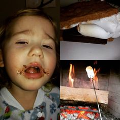 Snowdays have some very specific traditions in our house. S'mores must be consumes with as much mess as possible.  #smores #fireplace #perfectfireplacesnack #snowday #snowzilla #thegreatdigout by tone_mora