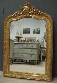 Antique French Mirror from www,jasperjacks.com