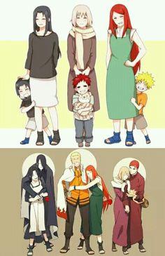 Naruto🍥: Naruto Sasuke & Gaara with their Mothers Naruto Vs Sasuke, Naruto Uzumaki Shippuden, Naruto Fan Art, Anime Naruto, Naruto Comic, Wallpaper Naruto Shippuden, Naruto Cute, Manga Anime, Otaku