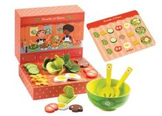 te gekke 'Rosette & César' saladebar DJECO | kinderen-shop Kleine Zebra 19,50