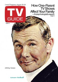 TV Guide August 15, 1970 - Johnny Carson of The Tonight Show. Illustration by Norman Rockwell.