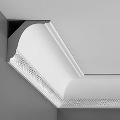 """C402 Crown Molding, Primed White. Face: 5-9/16"""" Length: 78-3/4"""" ____________________________ Request Your FREE Catalog: http://form.outwater.com/oracusa.php"""