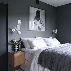99 White And Grey Master Bedroom Interior Design Grey Bedroom Design, Master Bedroom Interior, Gray Bedroom, Modern Bedroom, Bedroom Wall, Bedroom Ideas Grey, Bedroom Designs, Bed Room, Grey Interior Design