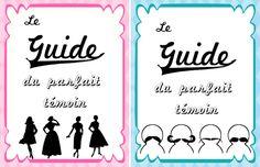 Des couvertures de livrets rigolotes pour tes témoins (à télécharger sur http://mariages-retro.blogspot.fr)