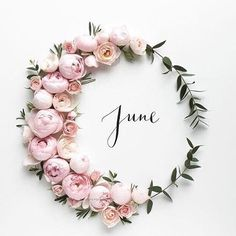 Bye May, Hello June. 🌺 It's our anniversary month! Seasons Months, Months In A Year, Summer Months, Happy June, Happy Saturday, Corona Floral, Design Creation, Month Flowers, Hello June