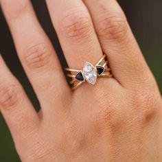 Aphrodite - Unique Marquise Diamond Engagement Ring by GIACOMELLI #diamondengagementringsvintage