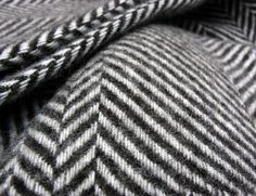 100% Wool Herringbone Throw - Tinsmiths | Linen and Cotton Fabrics, Lighting, Curtains and Accessories