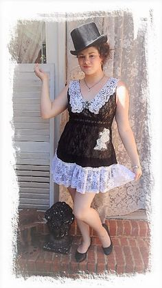 Excited to share the latest addition to my #etsy shop: Black Lace Tunic, Vintage Lace Dress, lace top, Altered Couture Tunic, Bohemian Top, Upcycled Clothing, Recycled S/M Bertha Louise Designs http://etsy.me/2Bi1rkT #clothing #women #shirt #black #white #alteredcoutur