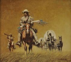 Frank McCarthy - The Trade Wagons, 1984, Oil on canvas
