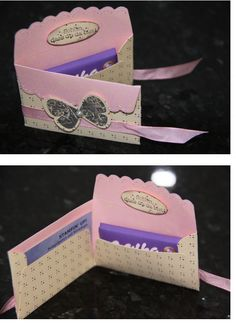 scallop envelope card. by rock.rose.1253