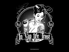 Artwork : Tizar Berandalan #illustration #tshirt_design #vapor #female #black_and_white
